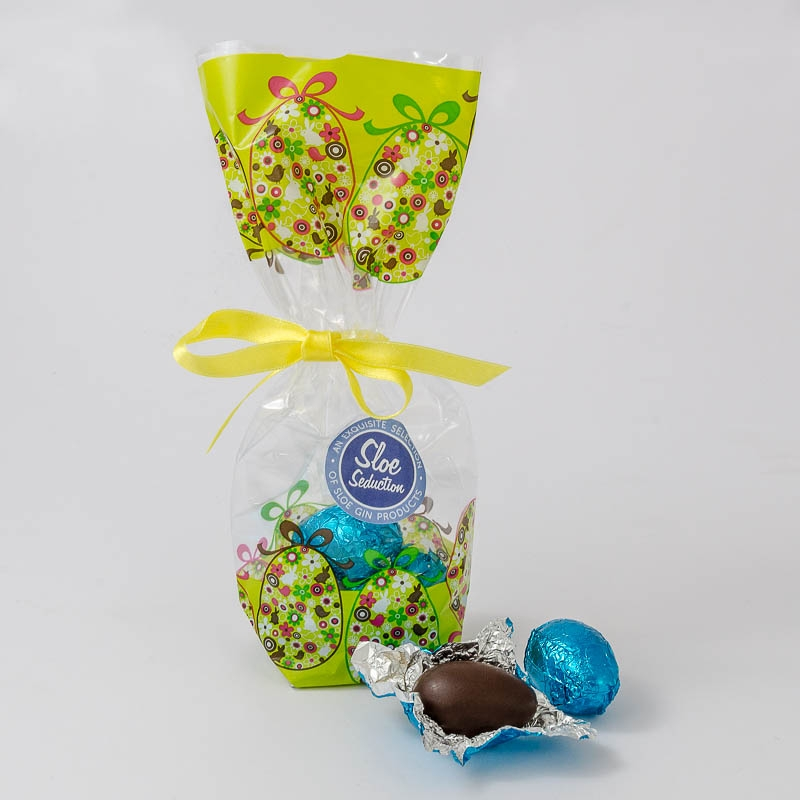 Easter Eggs – Mini Sloe Gin Truffle filled Eggs